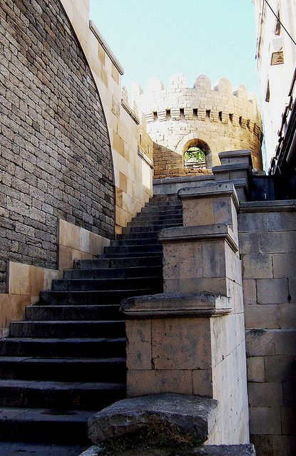 Entry from the State Economic University to the Old City, Baku, Azerbaijan