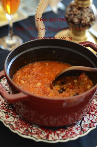 2015.1 morocco&Arab cooking lesson   'Harira' is the traditional soup of Maghreb.