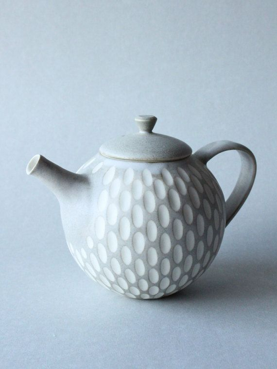 incised grey teapot by mayumiYceramics on Etsy