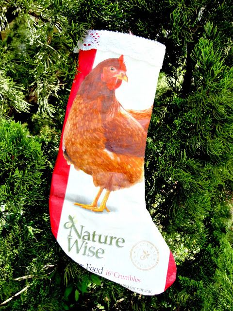 Fresh Eggs Daily®: Repurposed Feed Bag Christmas Stocking Tutorial