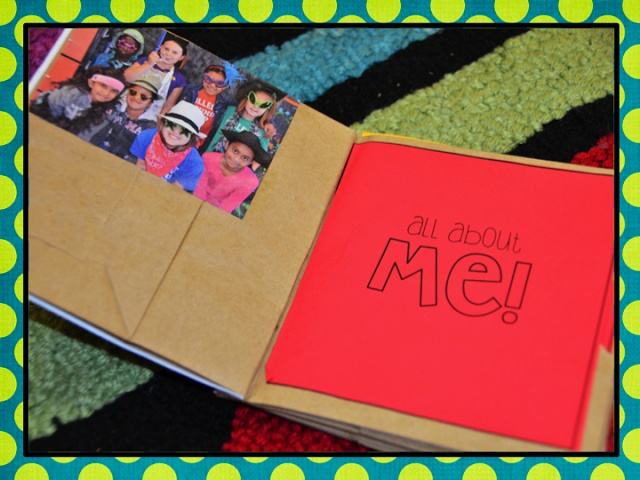 EOY memory book from paper bags