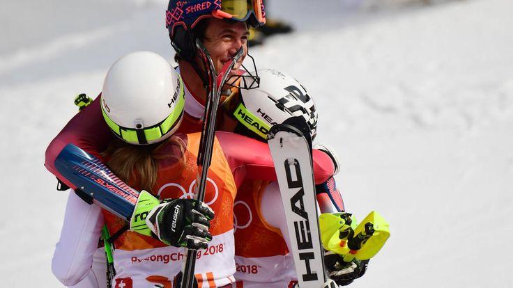 JO 2018 : La Suisse première championne olympique de slalom parallèle par équipes