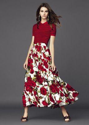 Я выбираю шить: Бесплатный шаблон: долго хиппи юбка (Burda). Имитационная Dolce & Gabbana