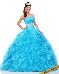 Resultado de imagen para vestidos de quince años azules cielo
