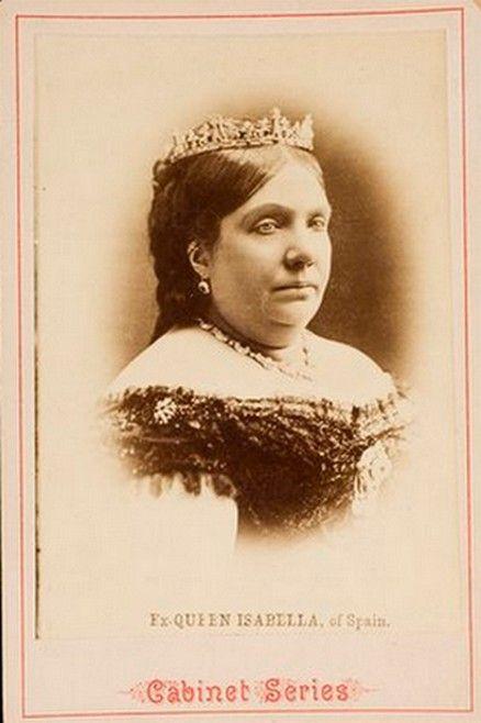 Queen Isabel II Of Spain. Mids 1870s