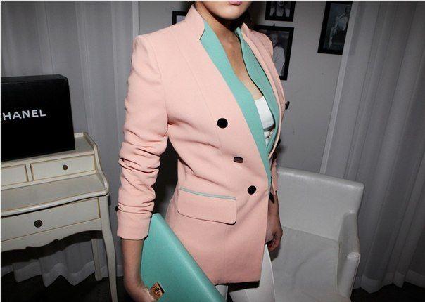 Розовый пиджак (70 фото): с чем носить и сочетать женщинам, нежно-розовый