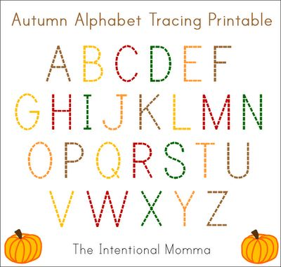 autumn alphabet printable toddler preschool pre k kindergarten use with dry erase marker. Black Bedroom Furniture Sets. Home Design Ideas
