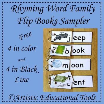 These Flip Books help teach the following sounds: Ent, Eep, Oon, Ook.  Each word family is in Color and Black Line.  The Key words with pictures are: Book, hook, cook Moon, spoon, raccoon, loon Tent, cent Jeep, sheep.  I suggest printing these cards on 110# card stock.