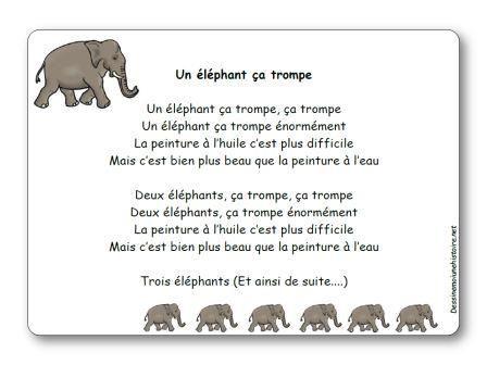 Comptine Un éléphant ça trompe