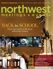 Our photo is on the cover of Northwest Meetings & Events magazine this quarter!