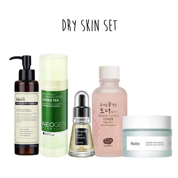5 Step Dry Skin Set Oil Skin Care Dry Skin Care Simple Skincare