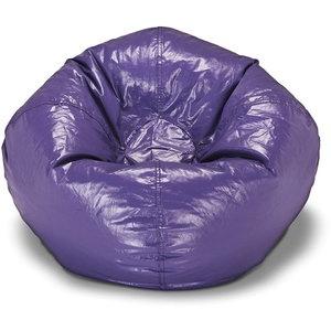 "98"" Round Vinyl Shiny Bean Bag Large, Purple OR any large dark purple bean bag"