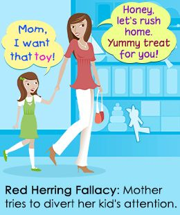 """Meaning of Red Herring Fallacy: """"The Author has – I say it in all… #Life_Style #debenhams #red_herring_badge #red_herring_clothing"""