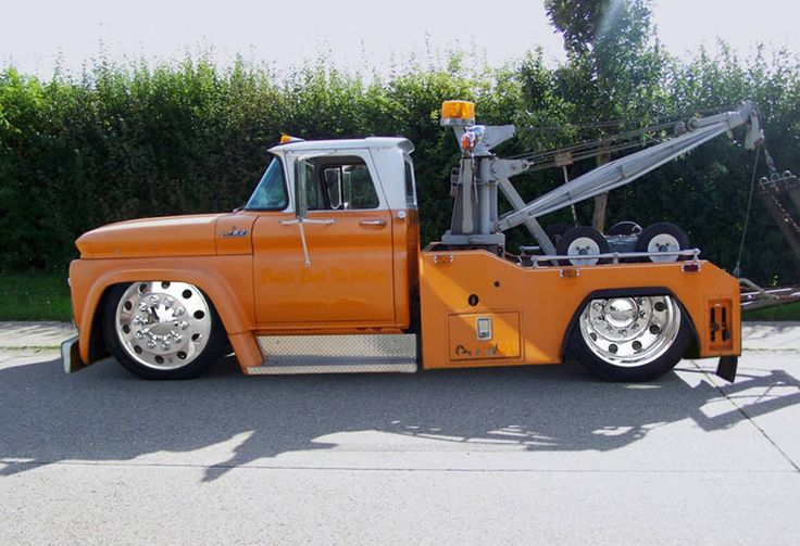 1963 Chevy C50 Tow Truck Vintage Orange Pinterest