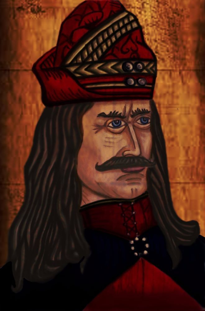 "VLAD TEPES ""THE IMPALER"" PRINCE OF WALLACHIA  ORIGINAL ART PRINT SIGNED #Realism"