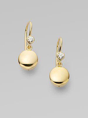 Georg Jensen - Diamond & 18K Yellow Gold Earrings - Saks.com