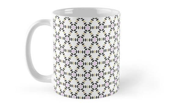 White mug Geometric Mug Gift for her New Job Gift