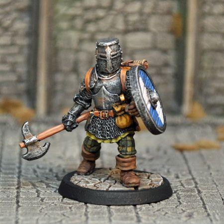 DAH1b – Human Male Fighter v2 | Otherworld Miniatures