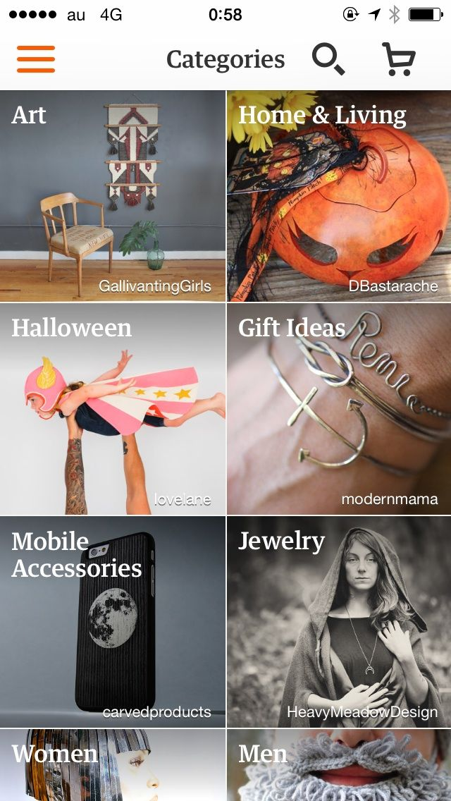 UI Inspexing - Etsy - Lists