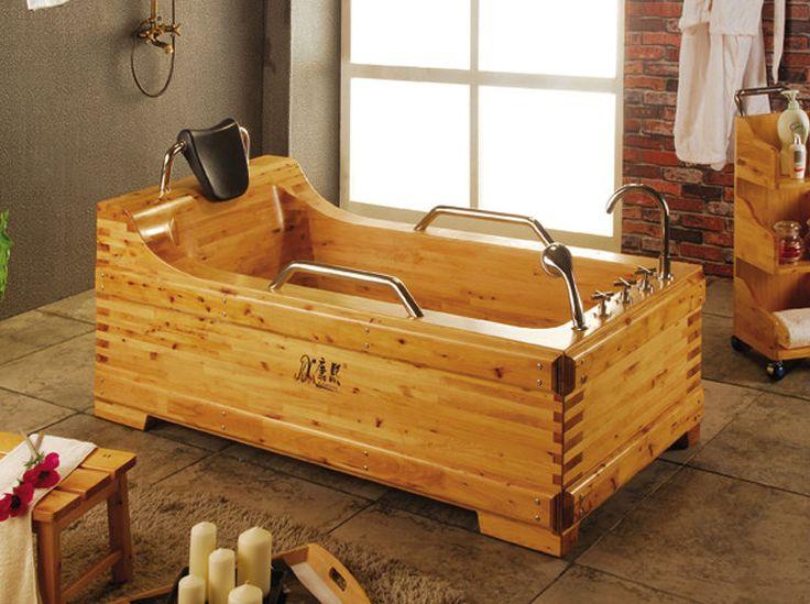 Wood Soaking Tub Walk In Bathtub China Wooden Barrel Bath