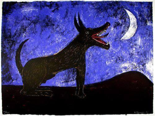Painting by Rufino Tamayo Xoloitzcuintle...beautiful