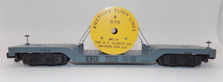 Gilbert American Flyer 936 Depressed Center Car Wire Spool Service Car S Gauge #AmericanFlyer