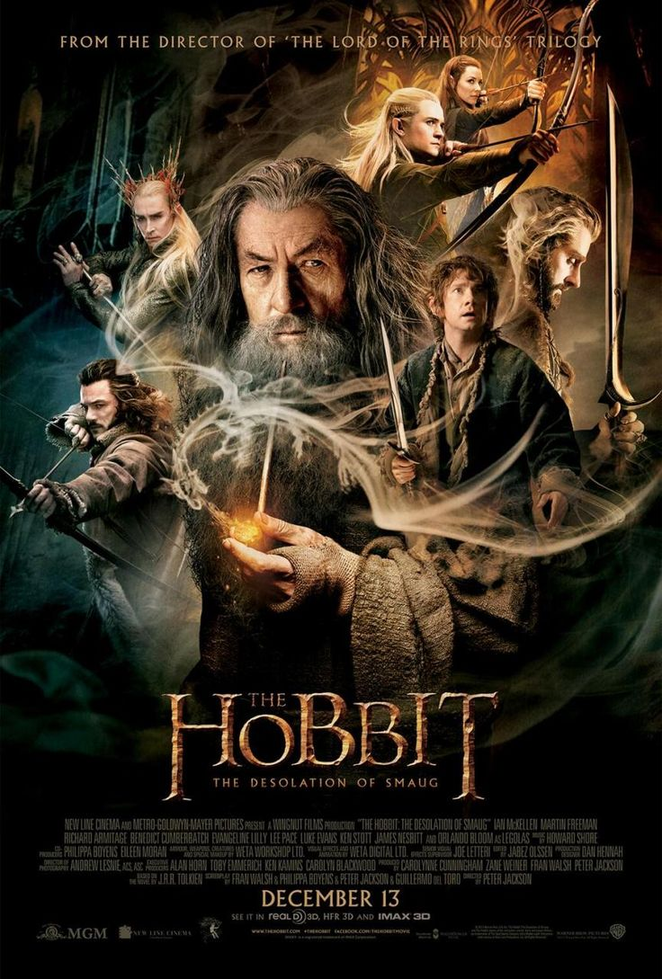 The Hobbit: The Desolation of Smaug (Peter Jackson) Ian McKellen, Martin Freeman, Richard Armitage, Orlando Bloom and Evangeline Lilly