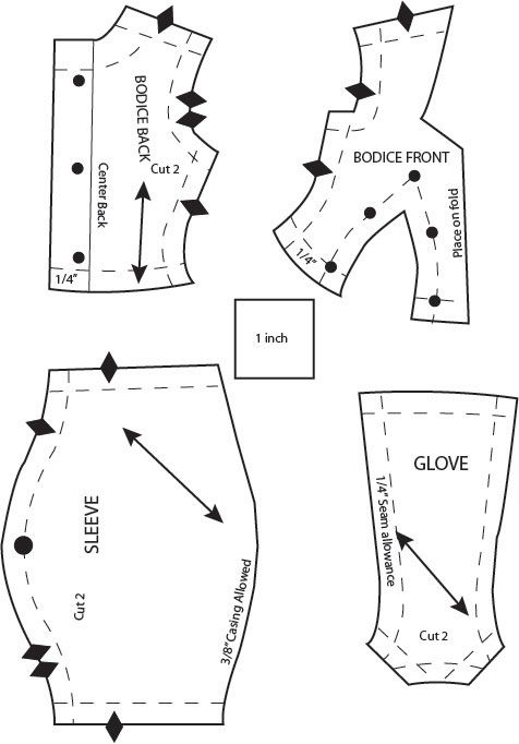 gauntlet template and instructions pdf free