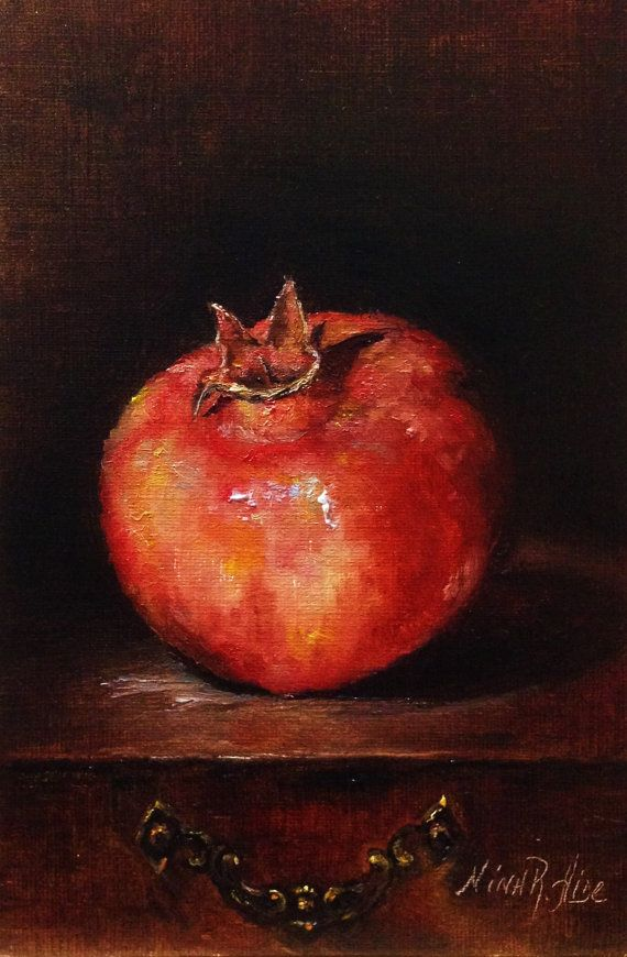 He encontrado este interesante anuncio de Etsy en https://www.etsy.com/es/listing/193959280/pomegranate-original-oil-painting-by