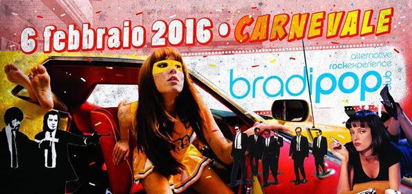 Continua il ciclo di appuntamenti al Bradipop Rimini, ospiti sabato 6 febbraio 2016 per il Tarantino Carnival Party il gruppo The Gangstar.