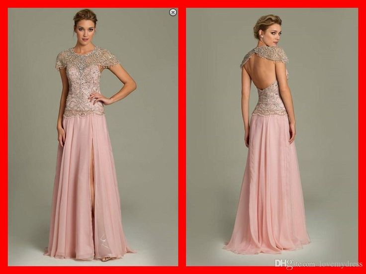 2015 Runway Fashion Chiffon Split Front/Side Evening Dresses Crystal Short Sleeve Red Carpet Dress Beading Backless Crew Capprd Evening Gown Backless Evening Dresses Uk Black Evening Maxi Dress From Lovemydress, $134.98| Dhgate.Com