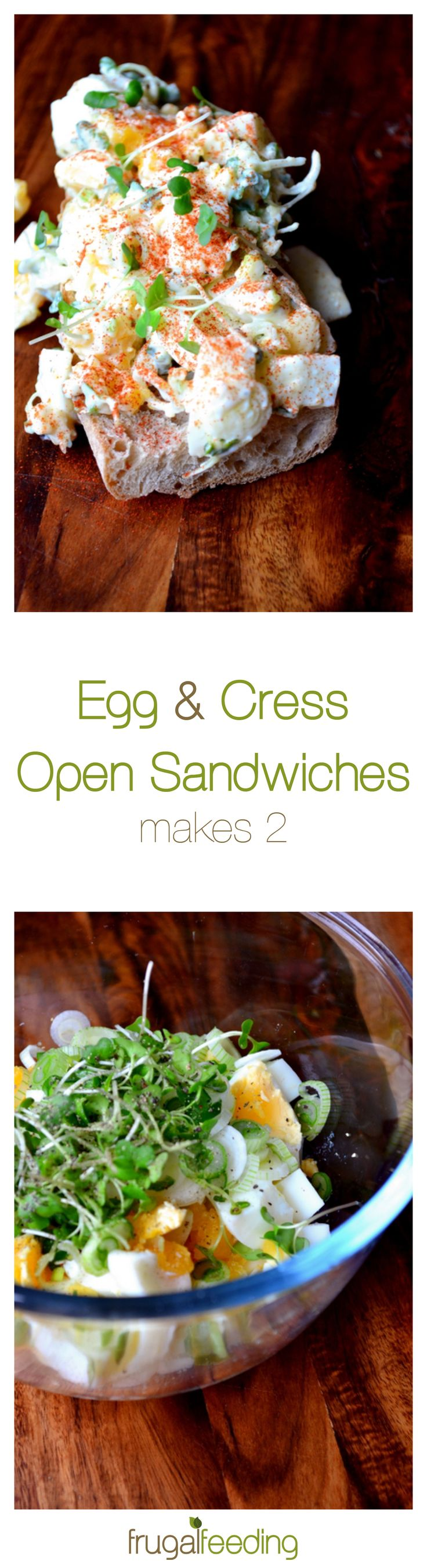 Lunch doesn't get better than Egg & Cress Sandwiches. These go one better. Made with medium-soft boiled eggs and flavoured with cress, paprika and spring onions, lunch will never be the same again