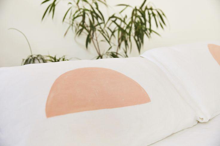 Blush Half Moon Pillowcase