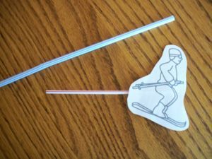 Ski Jump- Insert coffee stirrer skier into straw and blow to make him jump! Measure to see how far he can jump. Fun!
