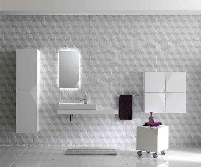 Cube White Mix Mosaic Matte From Myaree Ceramics