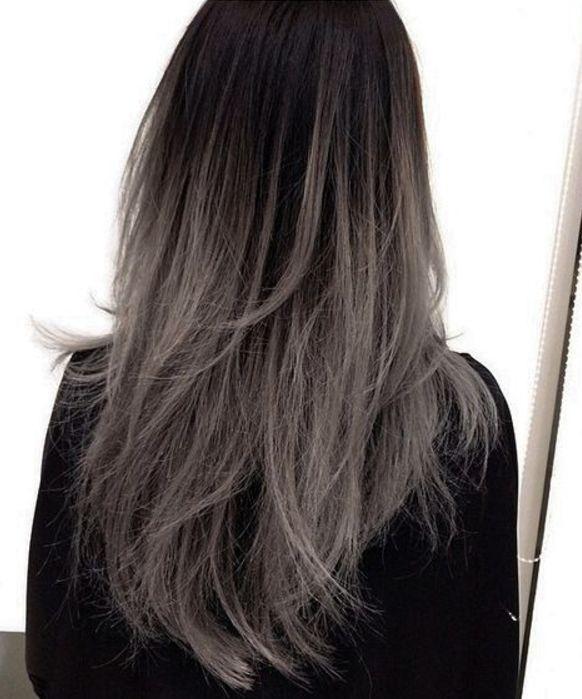 25 beste idee n over grijs haar op pinterest zilver haar ombre haarkleur en zilver blond haar - Grijs gekleurd ...