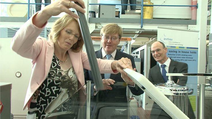 Prins van Oranje bezoekt Technologisch Topinstituut Watertechnologie Wetsus