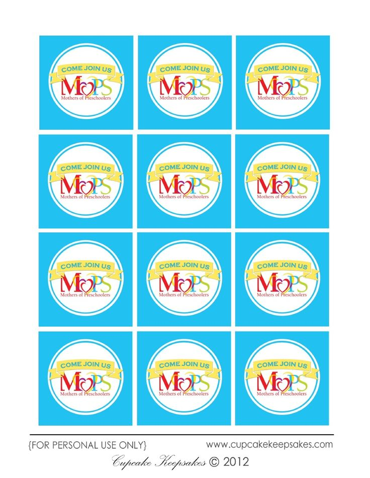 MOPS cupcake toppers printables