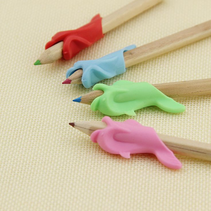 1pcs/lot High Quality Silicon Best Gift Dolphin Fish Style Writing Posture Correction Children Pencil Students Hold a Pen