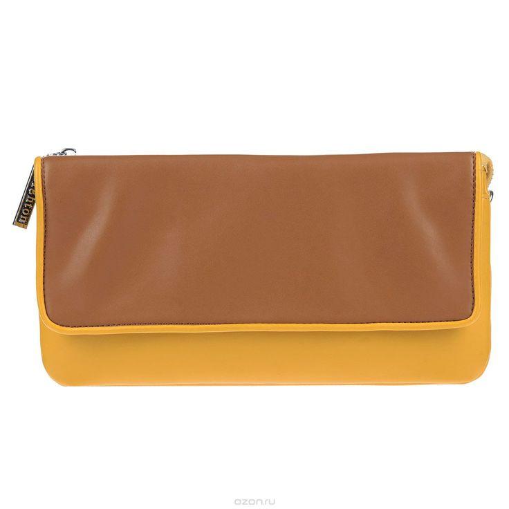 Клатч Leighton, цвет: желтый, коричневый. 4001-082/335/082/840