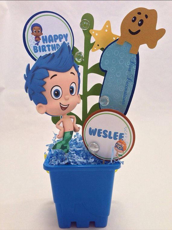 Bubble Guppies Birthday Party Centerpiece Decoration on Etsy, $21.00