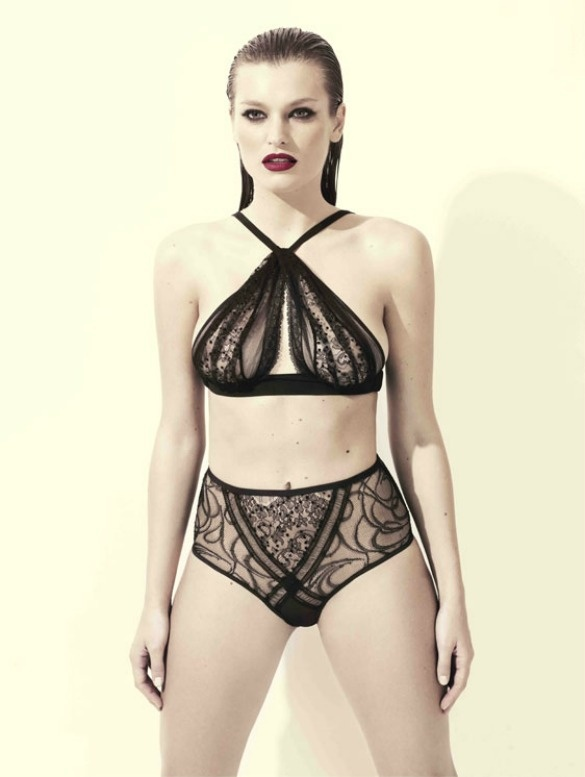 Your first pit stop in the UK? Nichole de Carle.    We're talking edgy, super chic bondage-inspired lingerie. Ladies – don't let it phase you: Nichole de Carle is to Lingerie what the Cat Lady is to plastic surgery.