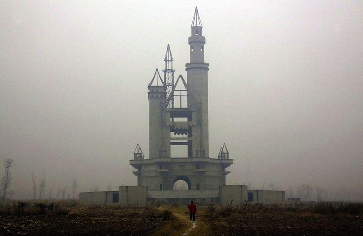 The abandoned Wonderland Amusement Park outside Beijing, China.