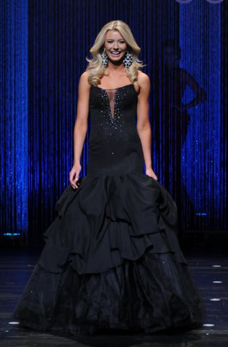 Miss Minnesota USA 2016 Evening Gown: HIT or MISS? | Bridget Jacobs will represent Minnesota in the upcoming Miss USA pageant. This blonde bombshell donned a dark evening gown to pair with a dazzling smile.  Read more: http://thepageantplanet.com/miss-minnesota-usa-2016-evening-gown/#ixzz3yPC72Edm
