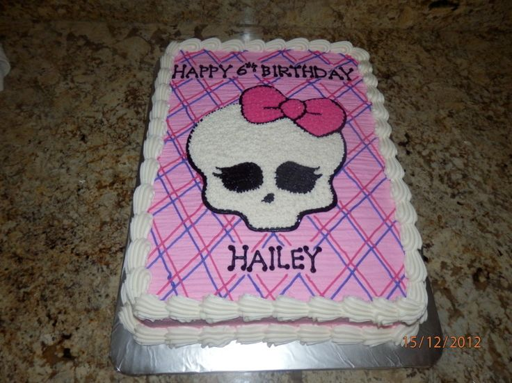 monster high cakes pictures | Monster High Half Sheet Birthday Cake - Cake Decorating Community ...