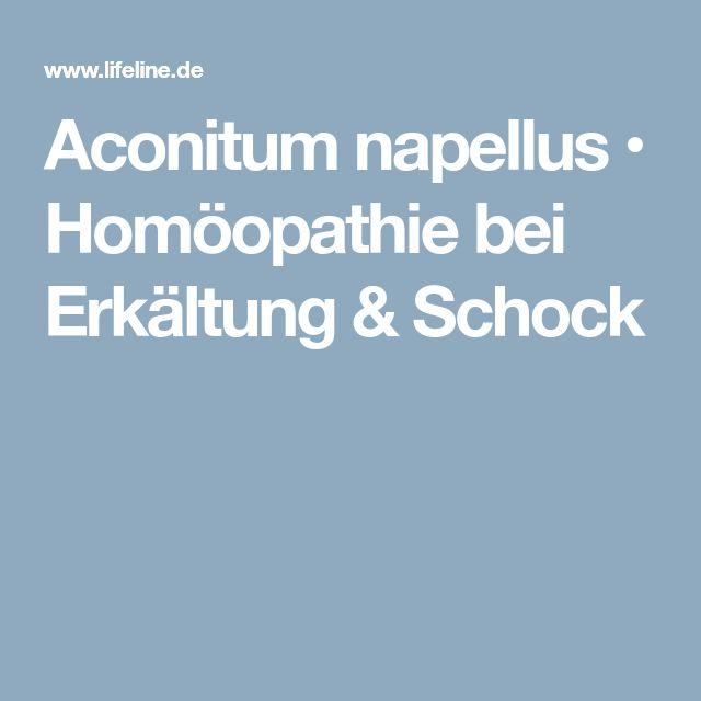Aconitum napellus • Homöopathie bei Erkältung & Schock