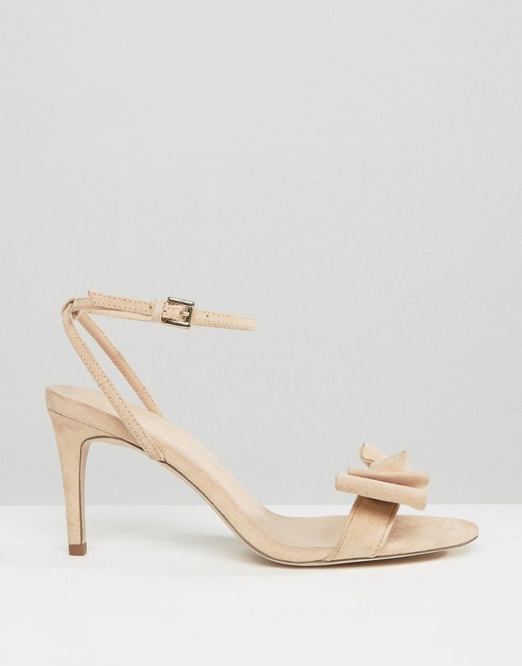 Image 2 ofOffice Molly Bow Barely There Mid Heeled Sandals