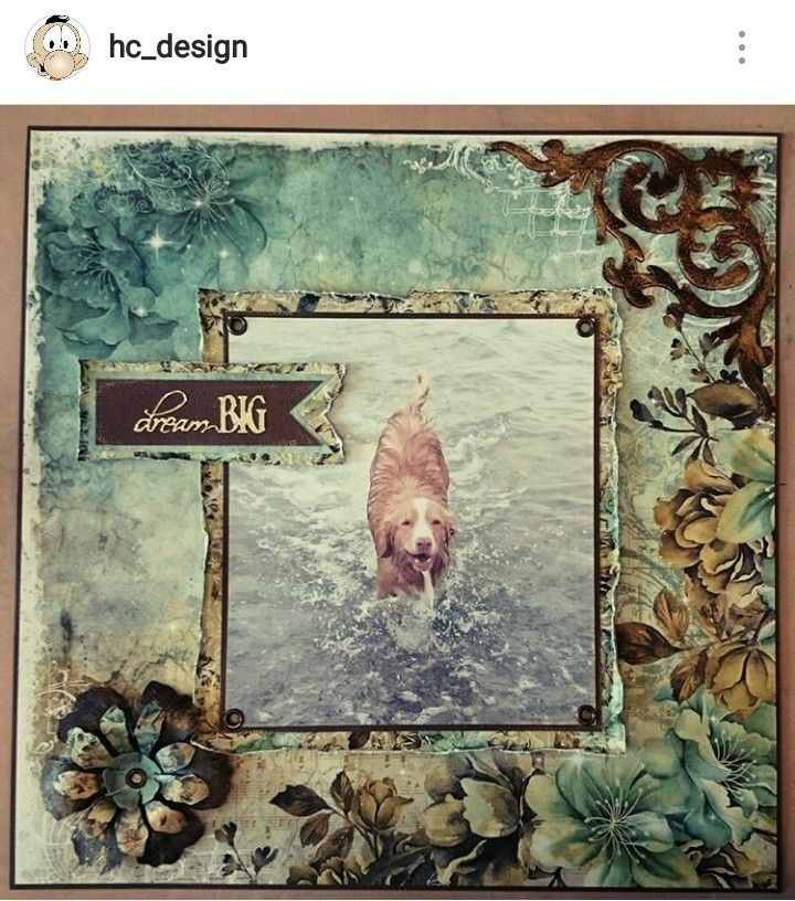 Scrapbooking page by HC Design Picture from Instagram