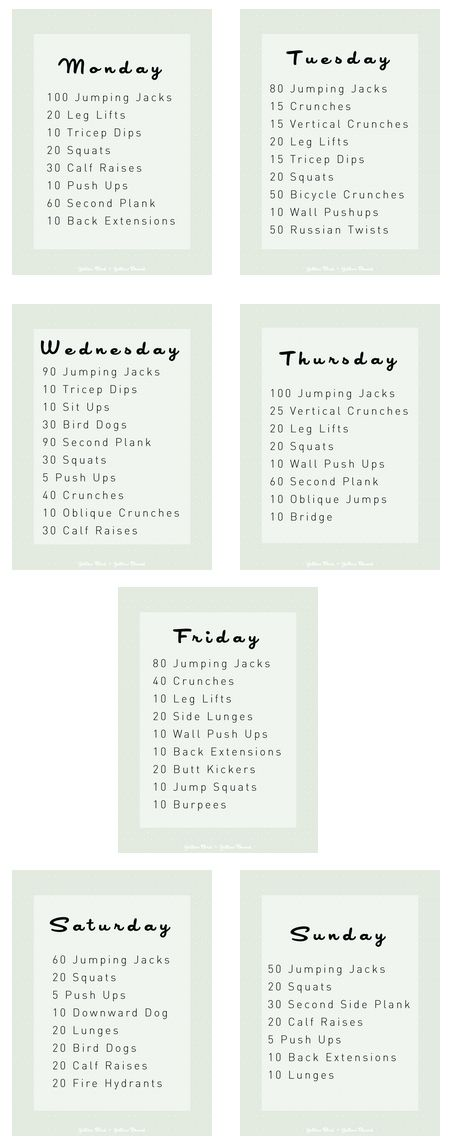 Best   Week Workout Ideas On   Weekly Workout Plans