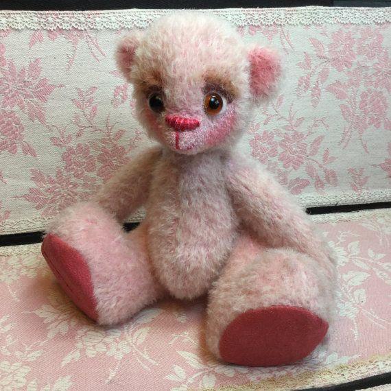 Ballerina bear. German mohair bear. Hand made by ParisJavaDolls